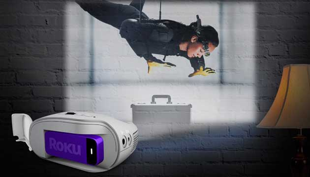 3m Streaming Projector Powered By Roku Projects Up To 120