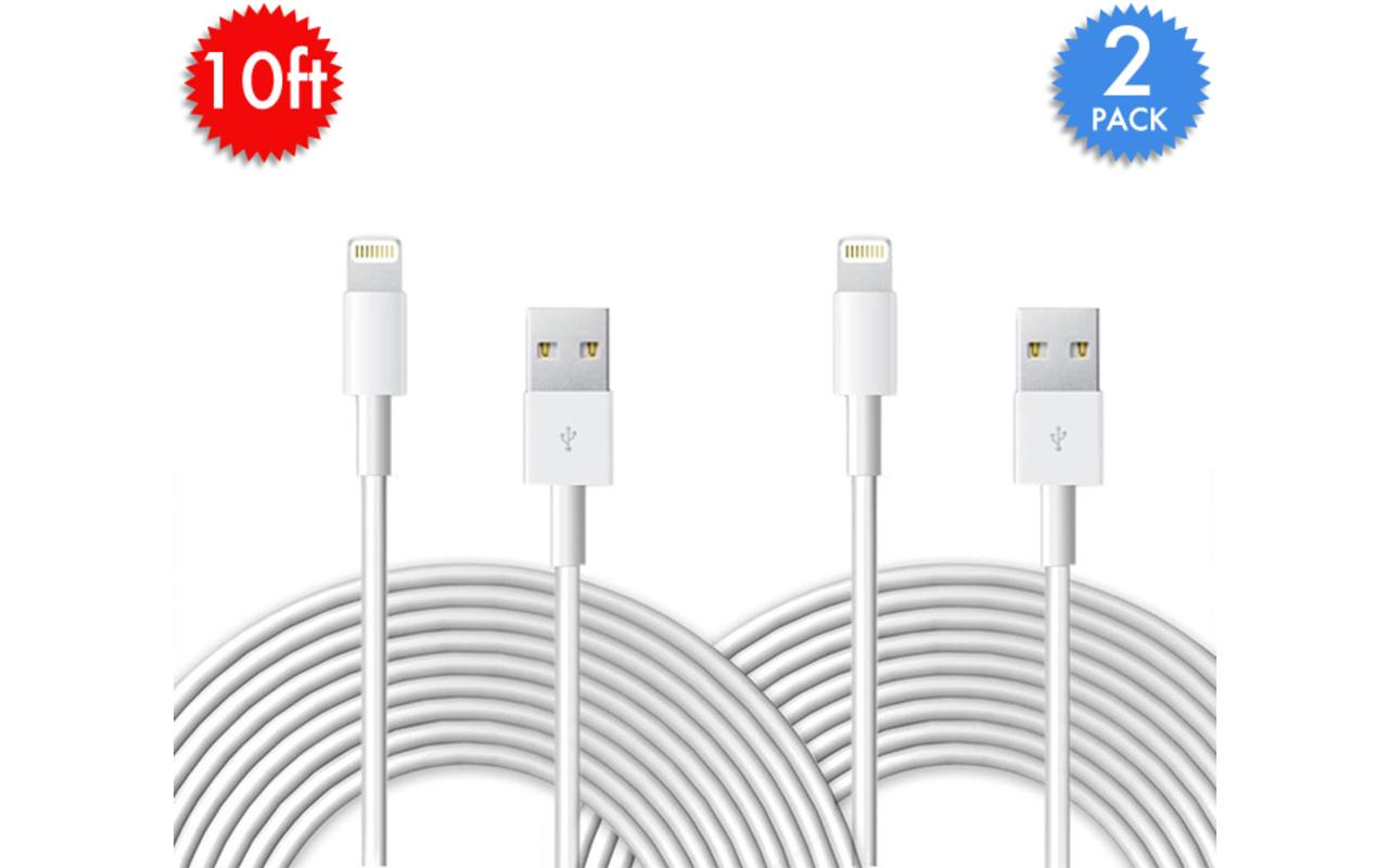 10 Foot Lightning Cables 2 Pack 8 Shipped 9to5toys