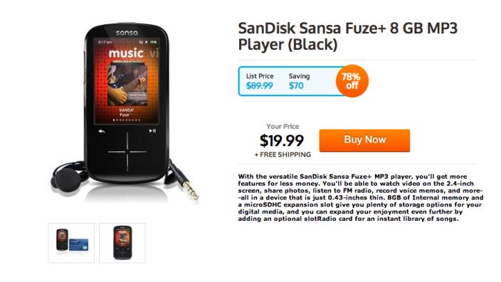 Sansa Fuze-SanDisk-8GB