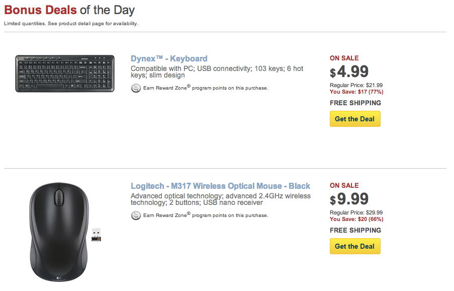 dynex wired keyboard 5 and logitech wireless mouse 10 shipped 9to5toys. Black Bedroom Furniture Sets. Home Design Ideas