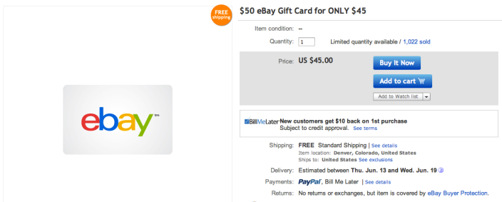 50 Ebay Gift Card For 45 Save Up To 10 On Your Next Ebay Purchase 9to5toys