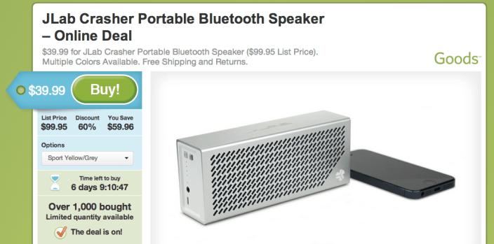 JLab-crasher-speaker-groupon-deal