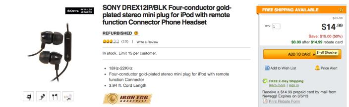 Sony black DR-EX12IP in-ear headphones-sale-03