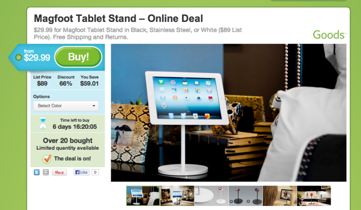 Magfoot-tablet stand-sale