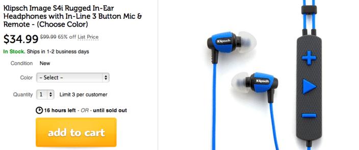Klipsch Image S4i Rugged In Ear Headphones W 3 On Mic