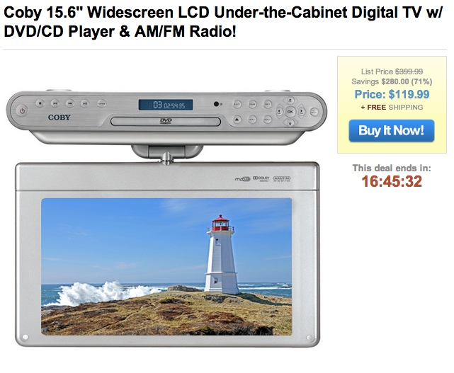 coby 15 6 widescreen lcd under the cabinet digital tv w dvd cd