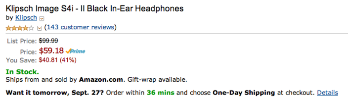 klipsch-s4i-amazon-deal-listing