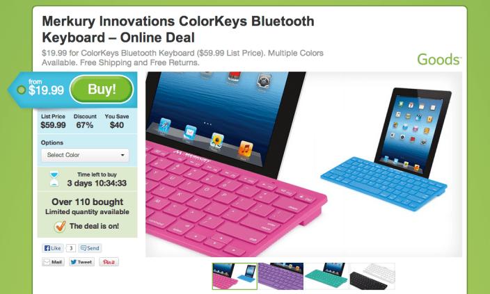 Merkury Innovations-ColorKeys-Bluetooth Keyboard-sale-01