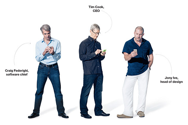 Tim Cook-Design chief-Jony Ive-Software head-Craig Federighi