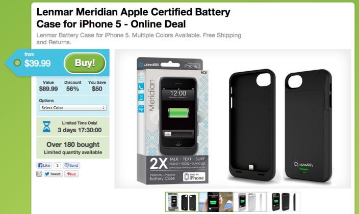 Lenmar Meridian-2300mAh-battery case-iPhone 5-5s-sale-02
