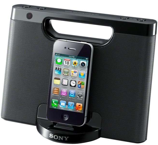 Sony-iPhone-iPod-Speaker-Dock-RDPM7iPBLK