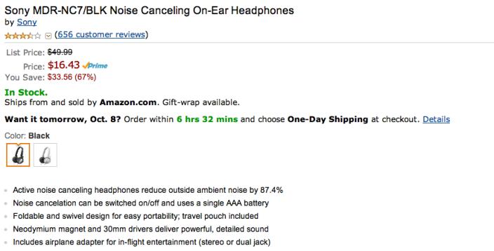 sony-noise-canceling-headphones-deal-amazon-list