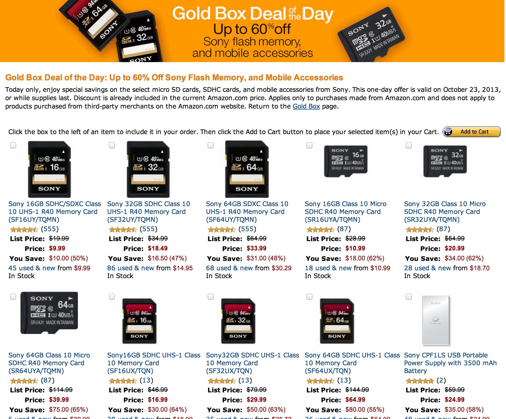 Sony-SD-Card-Sale