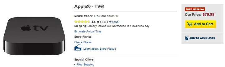 2nd Generation AppleTV, perfect for hacking, $80 shipped