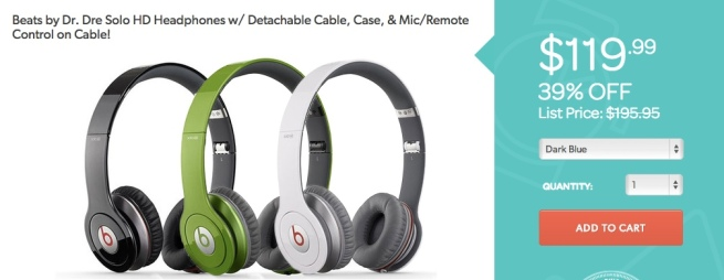 Beats-by-Dr.-Dre-Solo-HD Headphones- Detachable Cable, Case,Mic:Remote Control on Cable