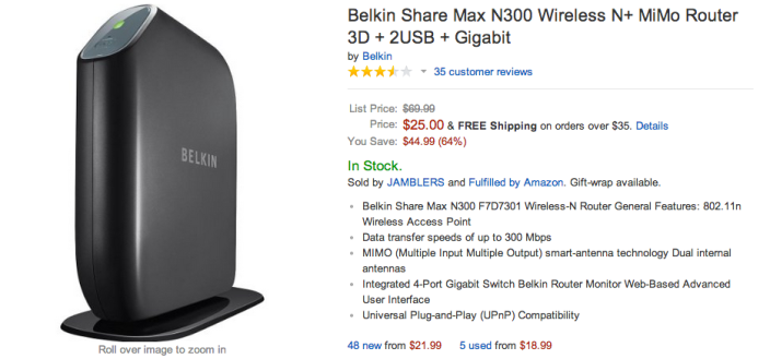 Belkin-Share Max-N300-Wireless N+-MiMo Router-sale-02