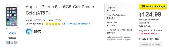 Best-Buy-iPhone-5s-deal