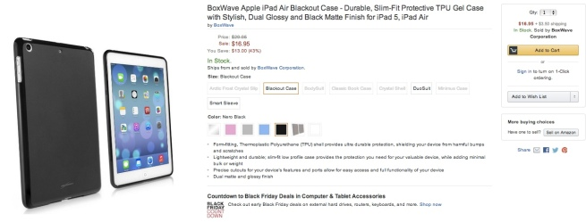 BoxWave-Apple-iPad-Air-Blackout-Case-Durable-Slim-Fit-Protective-TPU-Gel-Cases