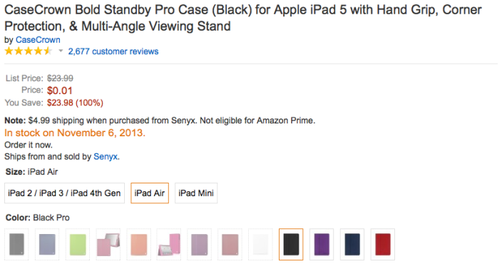 casecrown-amazon-ipad-air-deal