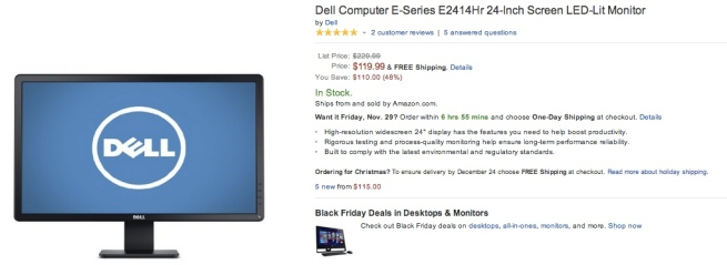 Dell-E-Series-E2414Hr-24-Inch-Screen- LED-Lit-Monitor