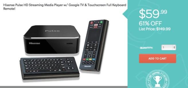 Hisense-Pulse-HD-Streaming Media-Player-w:Google-TV