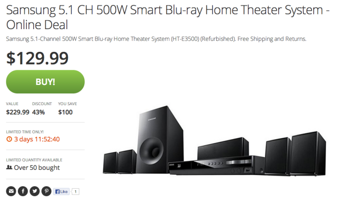 HT-E3500-Samsung 5.1 500W Smart Blu-ray-Home Theater System-refurbished-sale-02