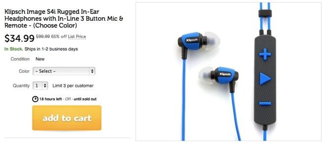 Klipsch Image Rugged In Ear Headphones