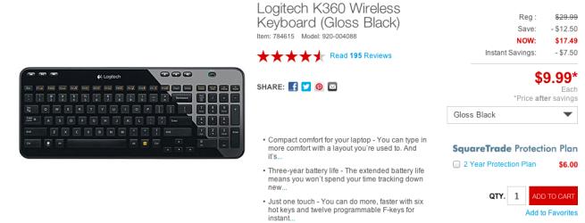 Logitech-K360-Wireless-Keyboard-(Gloss Black)