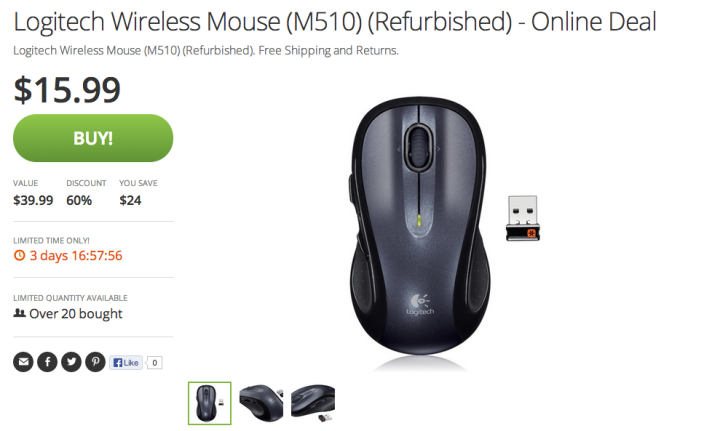 Mouse Logitech M510-sale-refurb-wireless-screen