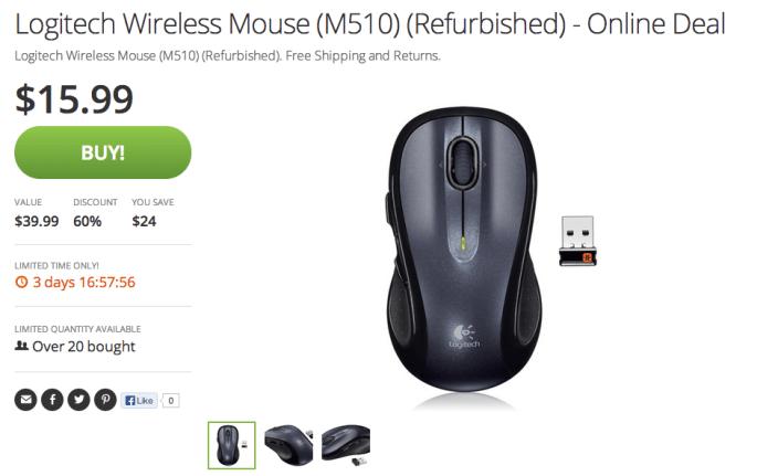 Logitech wireless mouse deals: M510 (refurb): $16 (Reg  $40