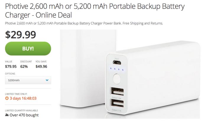 Photive-5,200mAh-portable-backup-battery charger-sale-03