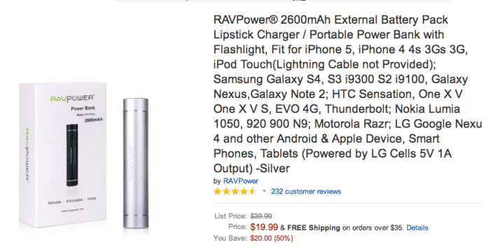 RAVPOWER-3000mAh-portable-backup-battery charger-sale-02