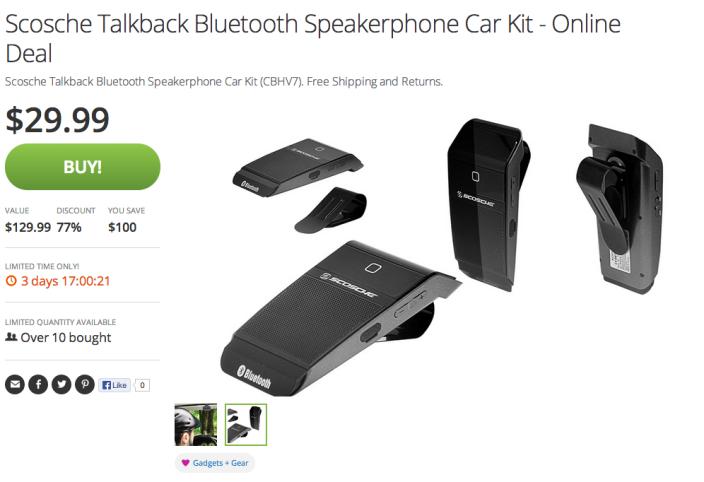 Scosche-Talkback-Bluetooth Speakerphone-Car Kit-sale-Android-01