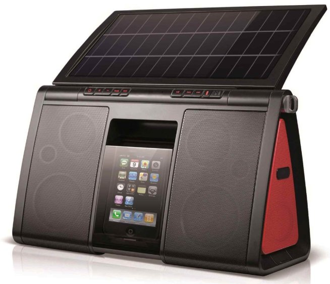 Soulra-XL-Solar-Powered-Dock-Speaker-System-for-iPhone:iPod