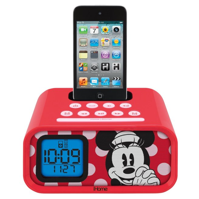 iHome-Disney-Minnie-Mouse-Dual-Alarm-Clock-Speaker-System-for-Apple-iPod