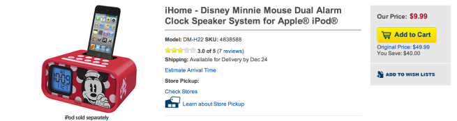 iHome-Disney-Minnie-Mouse-Dual-Alarm-Clock-Speaker-System-for-iPod
