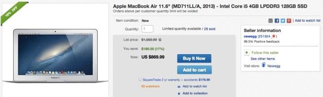MacBook-Air-11.6%22-(MD711LL:A, 2013)-Intel-Core-i5
