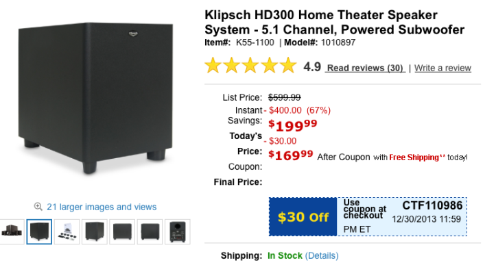 tiger-direct-klipsch-home-theater