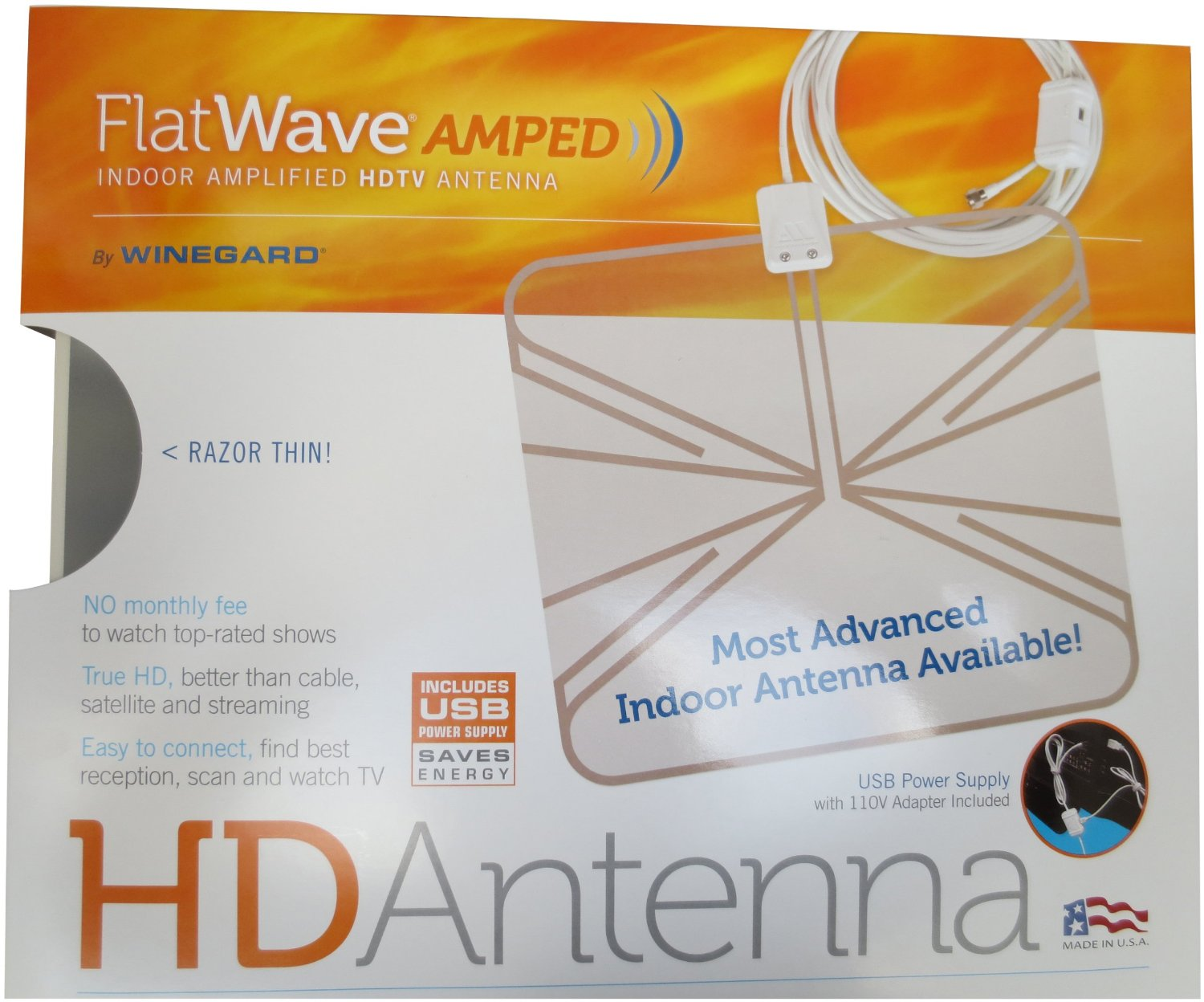 Winegard FlatWave Thin HDTV Indoor Antenna-sale-discount