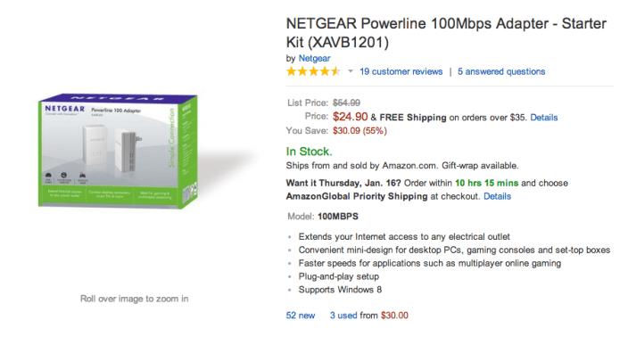 100Mbps-NETGEAR-Powerline-network extender-adapter-sale-02