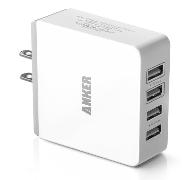 Anker-36W:7.2A-Quad-Port-Compact-USB-Wall-Charger