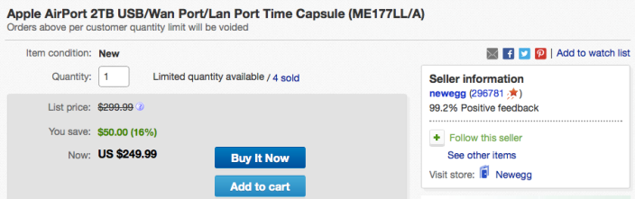 apple-time-capsule-2tb-deal-ebay-newegg