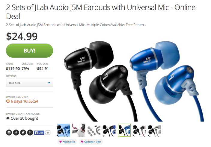JLab Audio J5M Earbuds-2 sets-sale-04