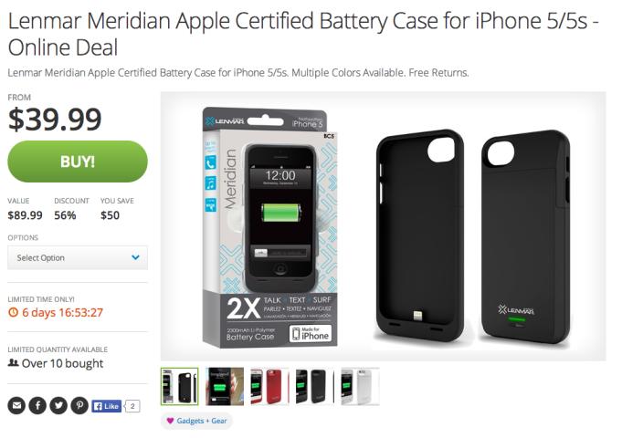 Lenmar Meridian-2300mAh-battery case-iPhone 5:5s-sale-02