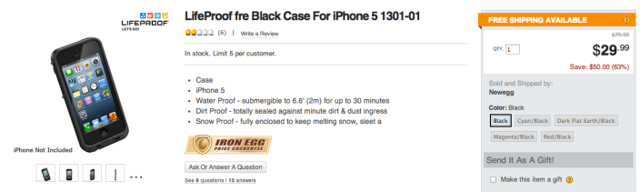 LifeProof Fre case for iPhone 5 (black)- sale-02