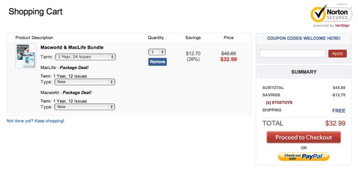 Magazine deals-Macworld-MacLife-sale