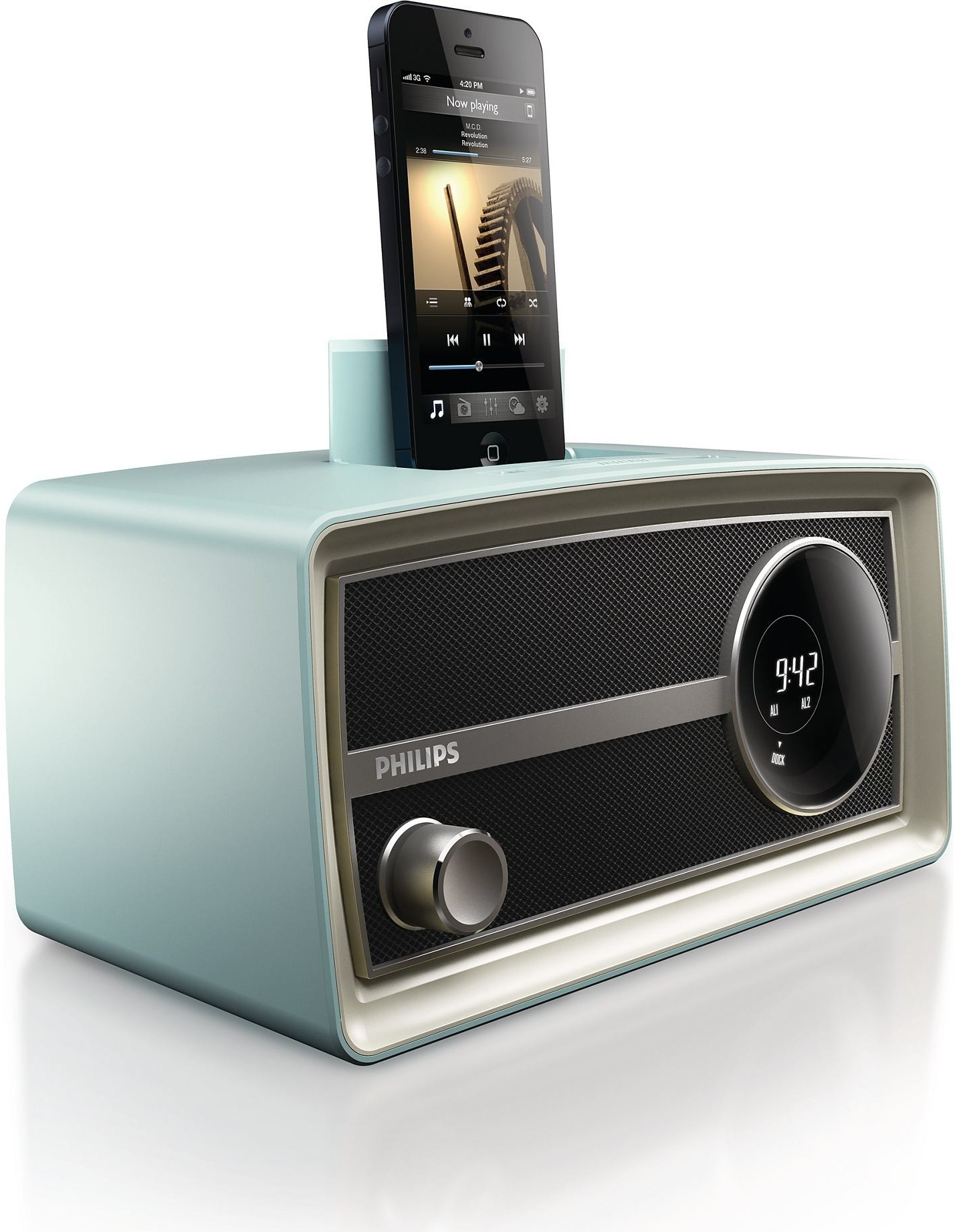Philips - Docking System for Apple® iPod® and iPhone® - BluePhilips - Docking System for Apple-iPod-iPhone-Blue