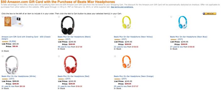 Beats-Mixr-amazon-gift-card-deal