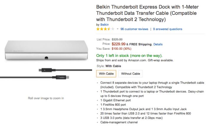 Belkin Thunderbolt Express Dock-sale-Amazon-03