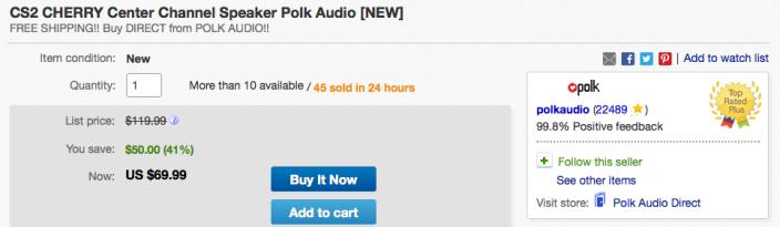 Polk-Audio-CS2-center-speaker-ebay-deal